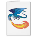 blue dragon breathing fire cards