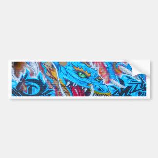 Blue Dragon Bumper Sticker