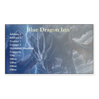 Blue Dragon Double-Sided Standard Business Cards (Pack Of 100)