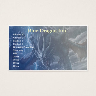Blue Dragon Business Card