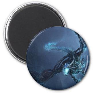 Blue Dragon Cartoon Villain Magent 2 Inch Round Magnet