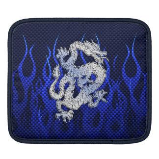 Blue Dragon Chrome like Carbon Fiber flames iPad Sleeves