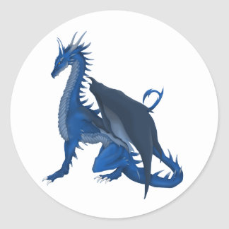Blue Dragon Classic Round Sticker
