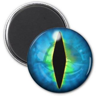 Blue Dragon Eye 2 Inch Round Magnet