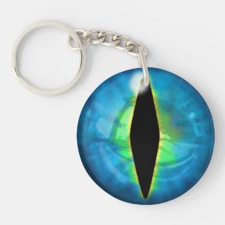 Blue Dragon Eye Keychain