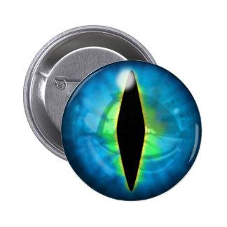 Blue Dragon Eye Pinback Button