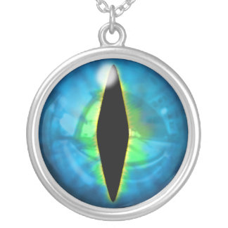 Blue Dragon Eye Silver Plated Necklace