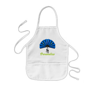 Blue Dragon Fan Pixel Art Kids' Apron