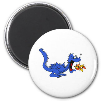 Blue Dragon Fire Breather Magnet