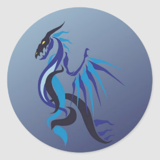 Blue Dragon Flame Stickers