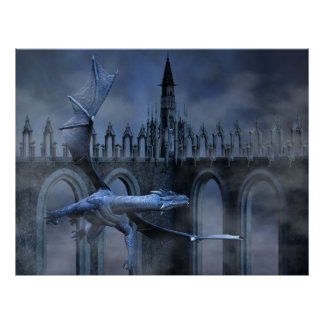 Blue Dragon Flight Poster