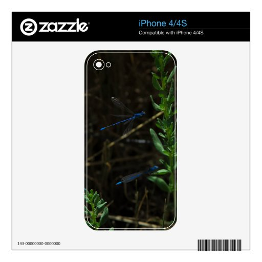 Blue Dragon Fly Skins For The iPhone 4