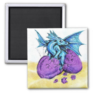 Blue Dragon Hatching Magnet