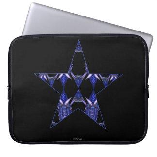 Blue Dragon Horns Star Kaleidoscope Mandala Laptop Computer Sleeves