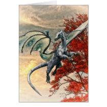 Blue Dragon in Autumn by Shawna Mac