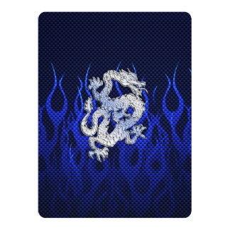 Blue Dragon in Chrome Carbon Fiber Styles Card