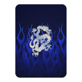 Blue Dragon in Chrome Carbon Fiber Styles Card