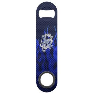 Blue Dragon in Chrome Carbon Fiber Styles Bar Key