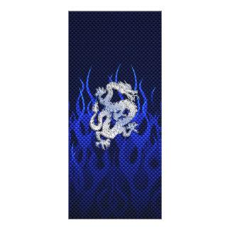 Blue Dragon in Chrome Carbon Fiber Styles Rack Card