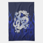 Blue Dragon in Chrome Carbon Fiber Styles Towel