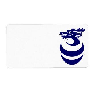 Blue dragon in Egg Label