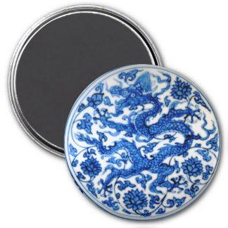 Blue Dragon 3 Inch Round Magnet