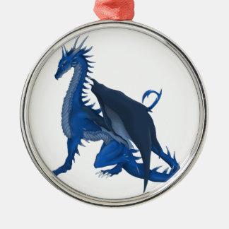 Blue Dragon Metal Ornament