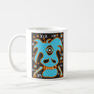 Blue dragon monster mug