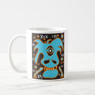 Blue dragon monster mug