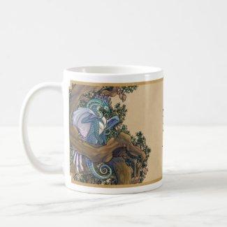 Blue dragon mug - double dragon mug