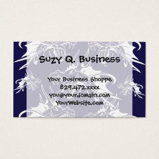 Blue Dragon Mythical Creature Fantasy Design Business Card