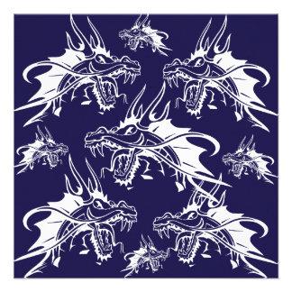 Blue Dragon Mythical Creature Fantasy Design Invites