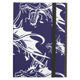 Blue Dragon Mythical Creature Fantasy Design iPad Folio Cases