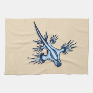Blue Dragon Nudibranch Kitchen Towel