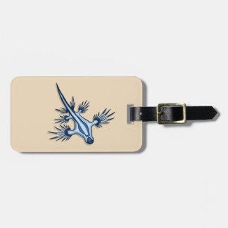 Blue Dragon Nudibranch Luggage Tag