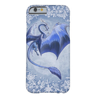 Blue Dragon of Winter Fantasy Nature Art Barely There iPhone 6 Case