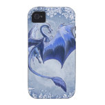 Blue Dragon of Winter Fantasy Nature Art iPhone 4/4S Case