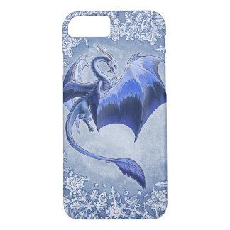 Blue Dragon of Winter Fantasy Nature Art iPhone 7 Case