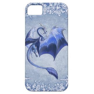 Blue Dragon of Winter Fantasy Nature Art iPhone SE/5/5s Case
