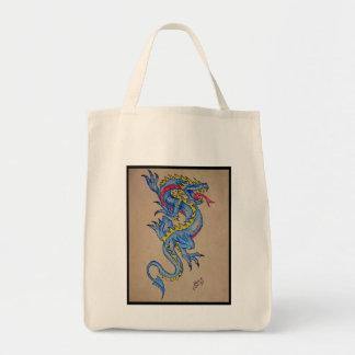 blue dragon parchment card canvas bags