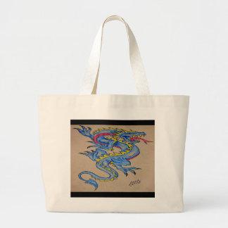 blue dragon parchment card (horz) bag