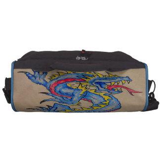 blue dragon parchment card (horz) laptop bags