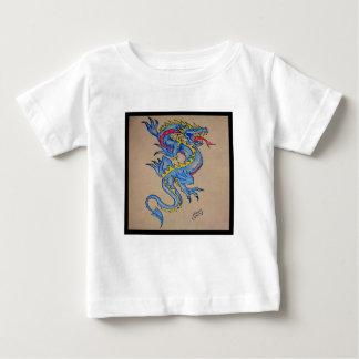 blue dragon parchment card (square) baby T-Shirt