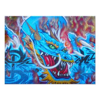 Blue Dragon Photo Print