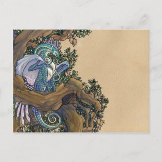 Blue dragon postcard postcard