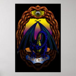 Blue Dragon-PRINT Poster