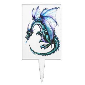 Blue Dragon Rectangle Cakepick