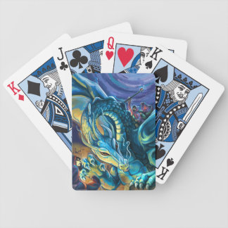 Blue Dragon Rider Bicycle Playing Cards
