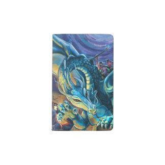 Blue Dragon Rider Pocket Moleskine Notebook