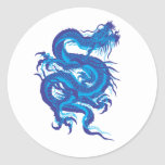 blue.dragon round sticker